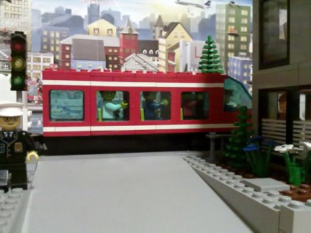 Lego monorail route extended