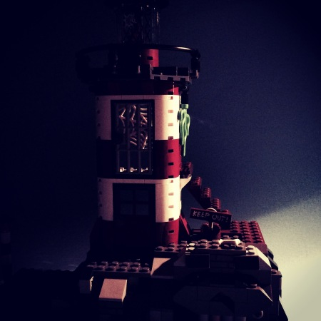 Lego 75903 Haunted Lighthouse in moonlight